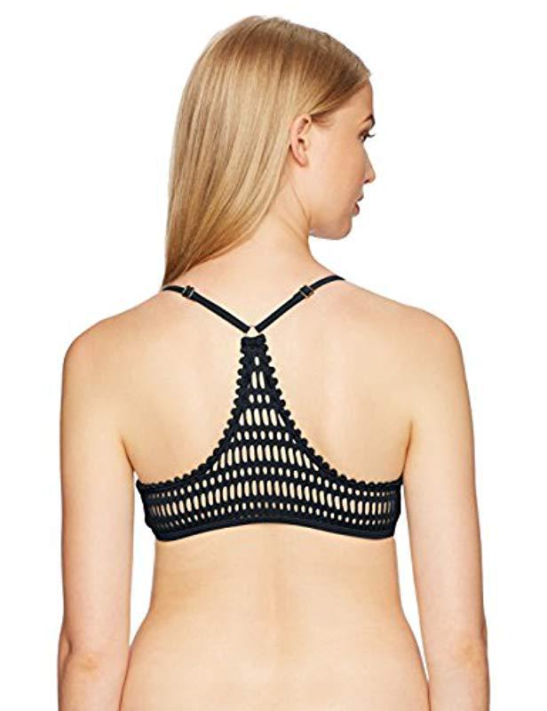 0f36afaf8e501 Lyst - Rip Curl Designer Surf Mesh Bralette Bikini Top in Gray