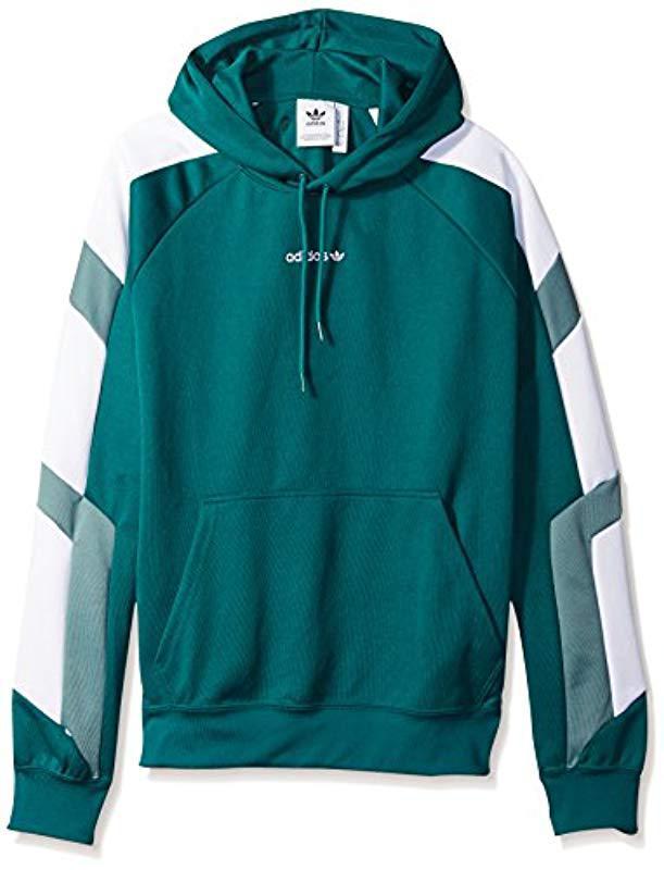 8e32030e32f1 Lyst - Adidas Originals Eqt Color Block Hoodie in Green for Men