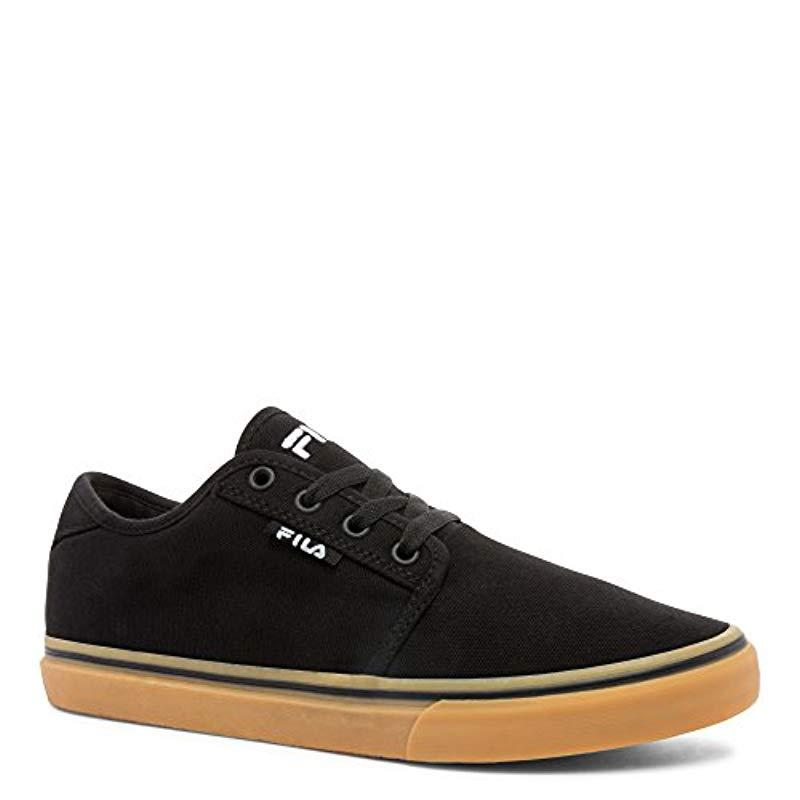 295d53212051 Lyst - Fila Easterly Canvas Casual Shoe in Black for Men - Save 60%