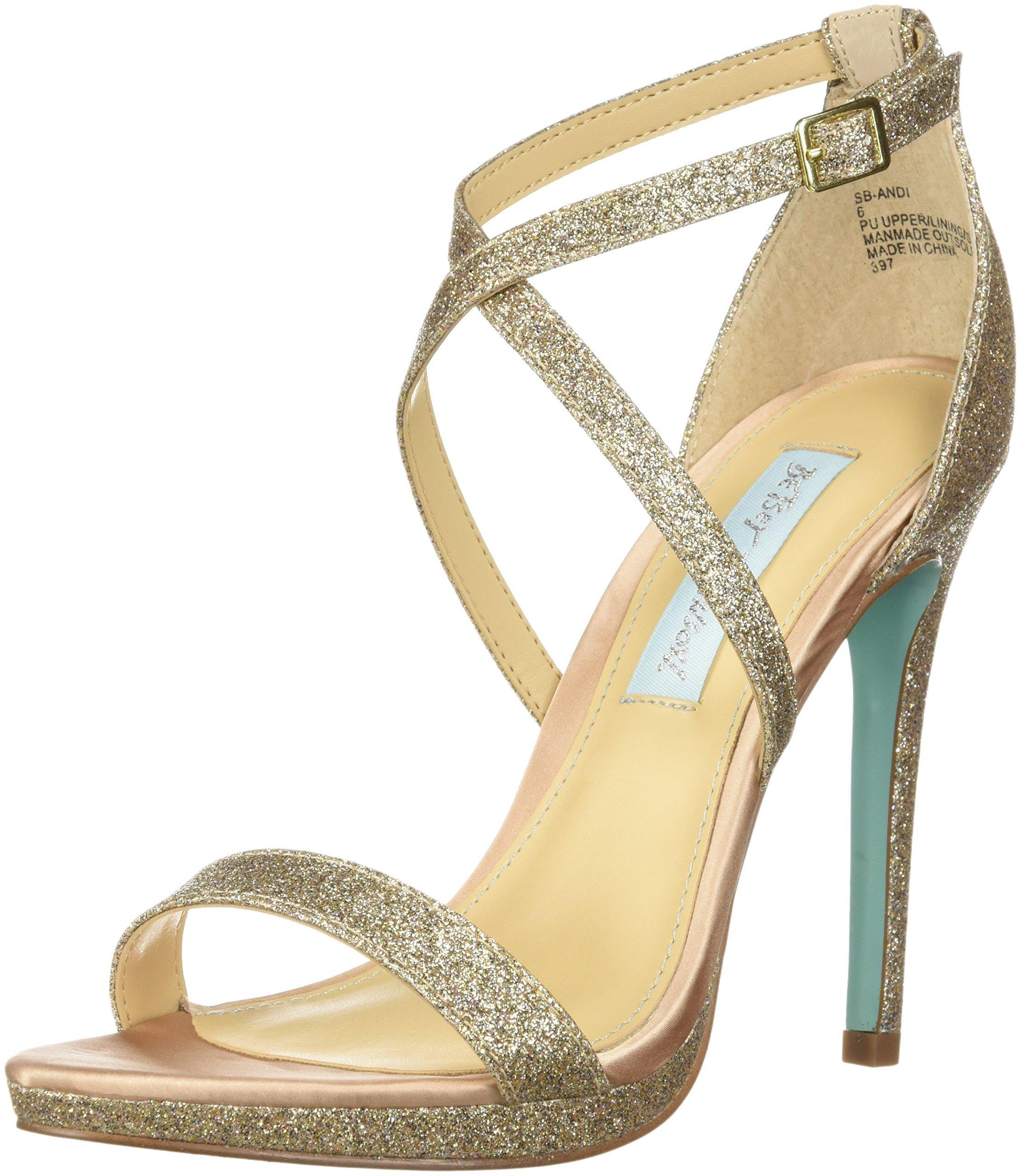 Betsey Johnson Blue Sb-mari Heeled Sandal in Green - Lyst