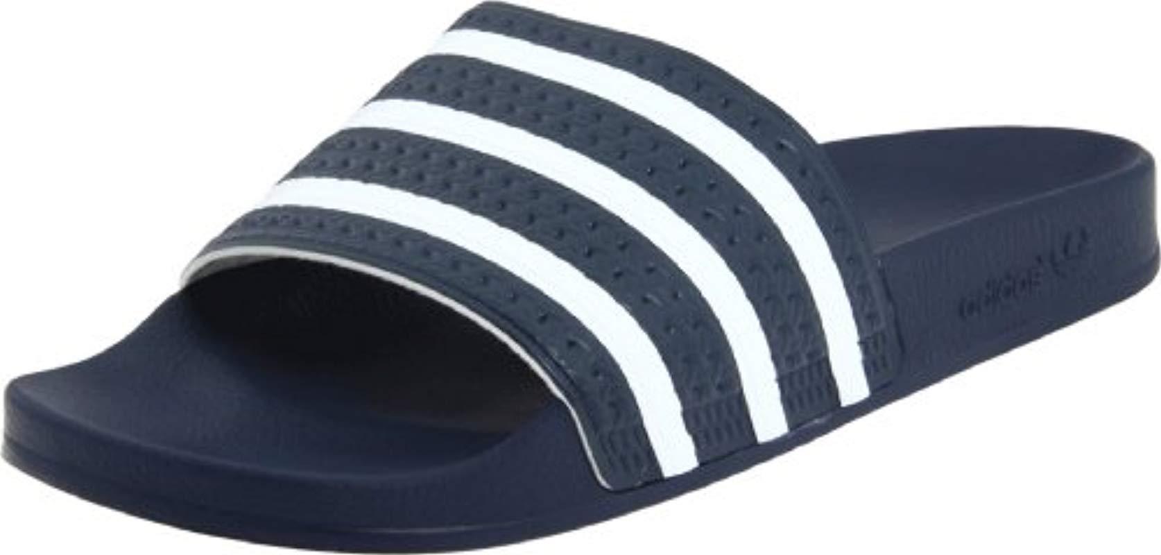 d715bae8d629bf Lyst - Adidas Originals Adidas Adilette Slide Sandal in Blue for Men