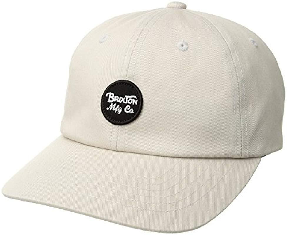 ee6d3d234d1 Lyst - Brixton Wheeler Low Profile Adjustable Hat for Men