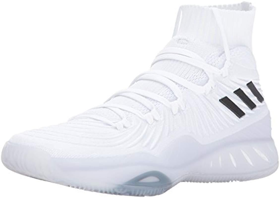 e1908f3d1ac adidas Crazy Explosive 2017 Primeknit Basketball Shoe in White for ...