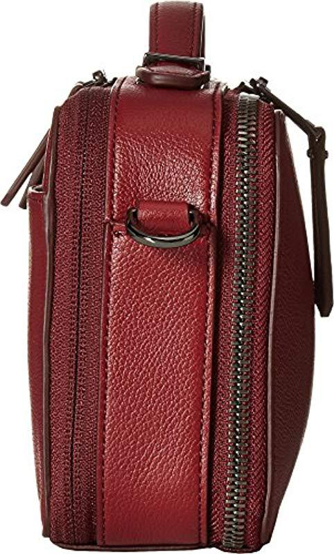 8ea2777ac4 Lyst - Tumi Voyageur Aberdeen Leather Crossbody Cross Body Bag in Red