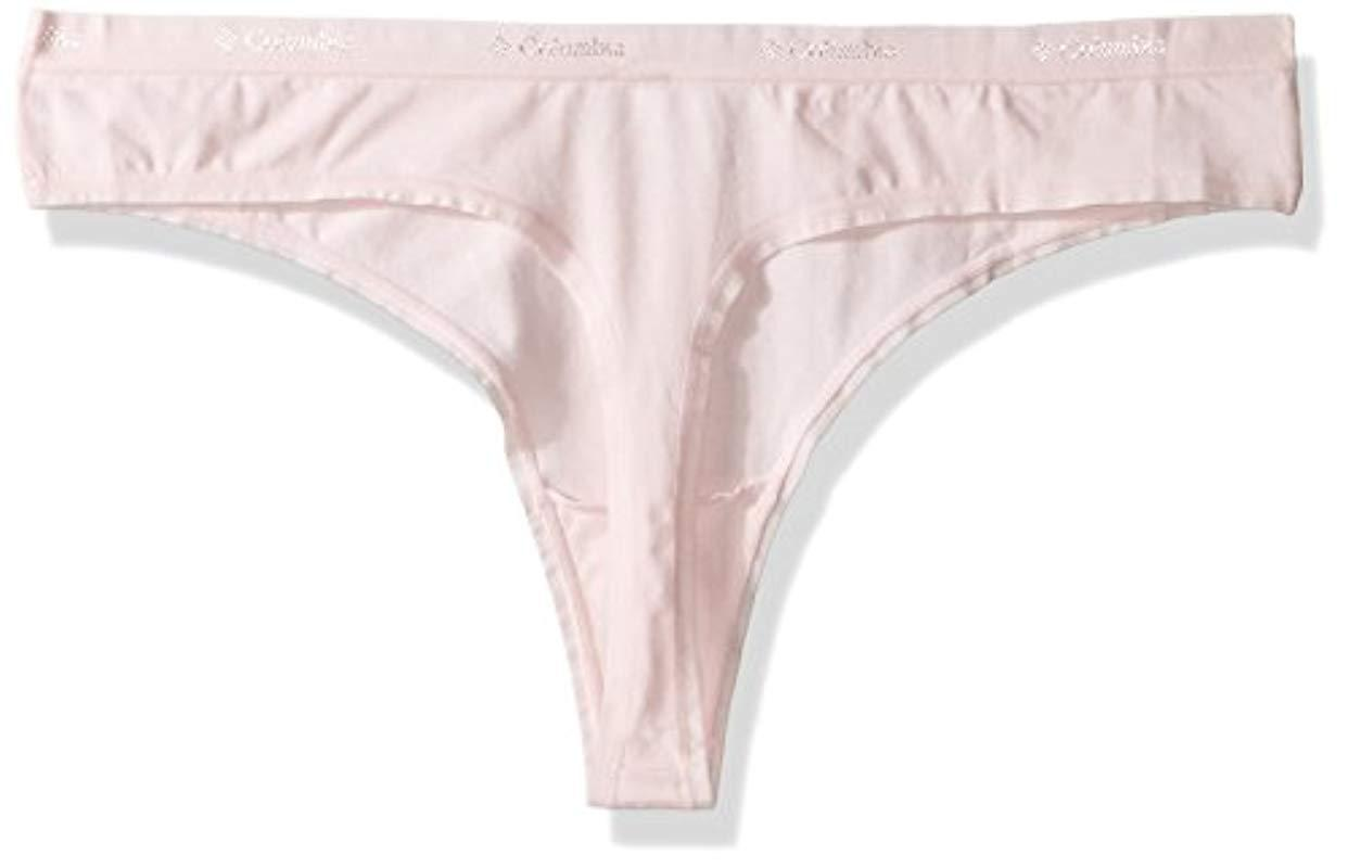 357096a82ea1 Lyst - Columbia Cotton Stretch Thong 3 Pack in Pink