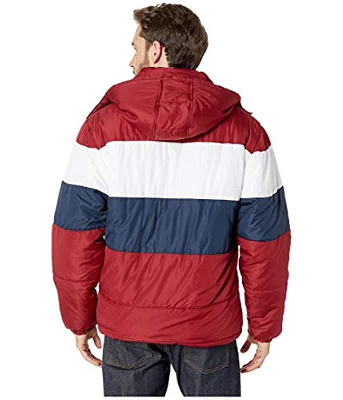 U.S. POLO ASSN. Fleece Color Block Short Bubble Jacket in ...