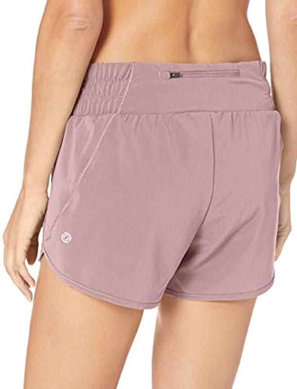Wide Waistband Woven Run Short with Back Zip Pocket Brand 3.5 Core 10 Womens XS-3X