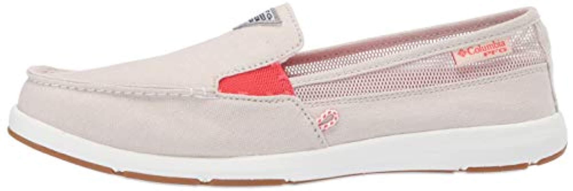 NEW Columbia Women's Flats Delray II Slip On PFG Canvas Comfort Boat Shoes
