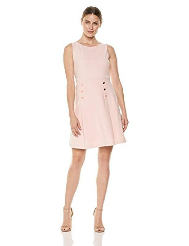 d8198a7793 Lyst - Ivanka Trump Sleeveless A-line Pleated Dress in Pink - Save 5%