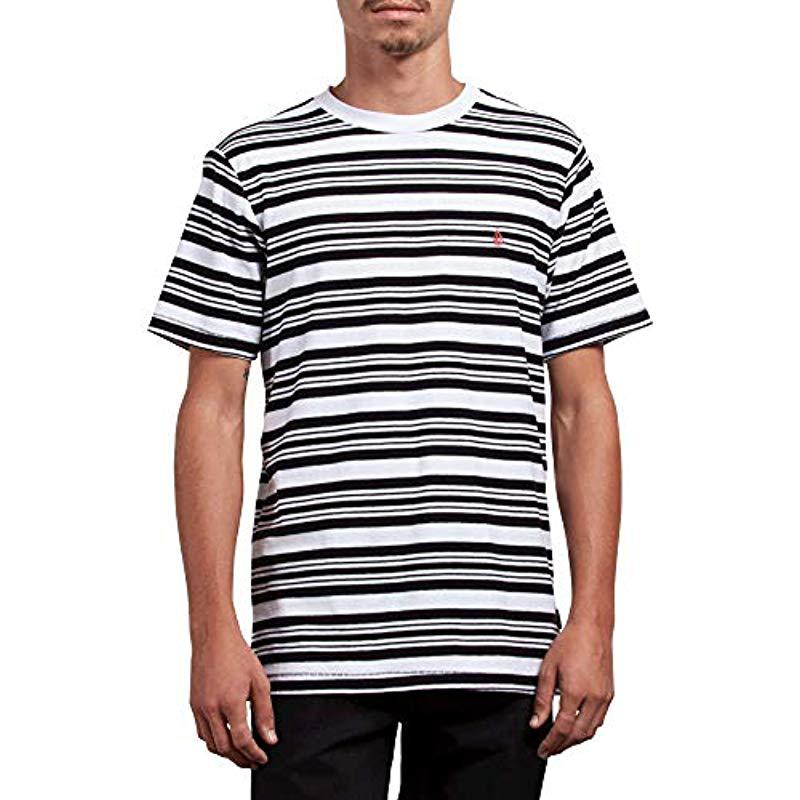 sneakers for cheap 6a3fe c3bc6 Men's White Randall Knit Crew Short Sleeve Striped Shirt