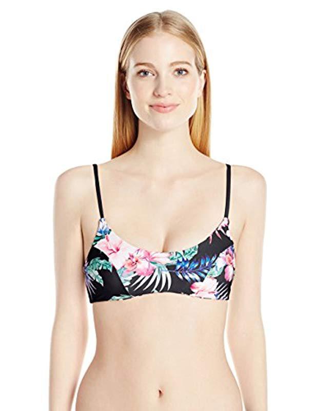 77b89e9d7d Lyst - Rip Curl Snow Lotus Bralette Swimsuit Bikini Top in Black