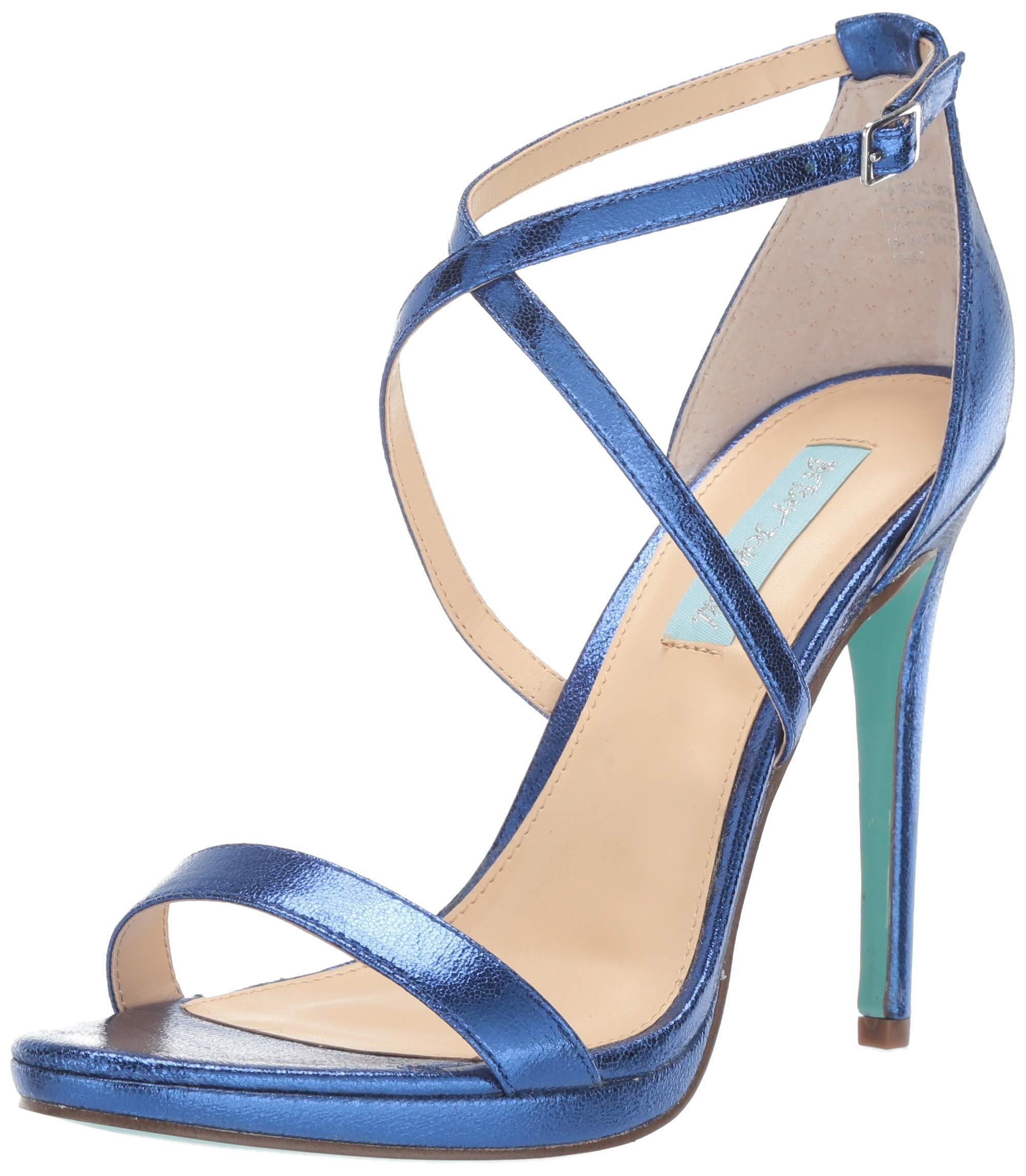 Betsey Johnson Blue Sb-aubry Heeled Sandal - Lyst