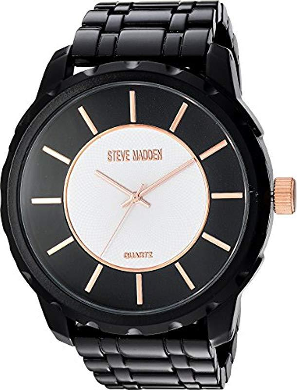 6b9a524e238 Lyst - Steve Madden Analog-quartz Watch With Alloy Strap
