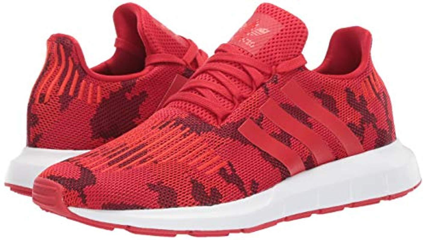 Swift Running Shoe, Scarlet/white