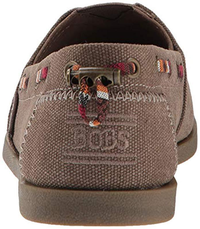 66e7bc74596 Lyst - Skechers Bobs Chill Luxe-autumn Crush. Canvas Slip On W ...