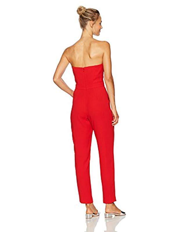 3deaa10e13c3 Lyst - Jill Jill Stuart Strapless Jumpsuit in Red