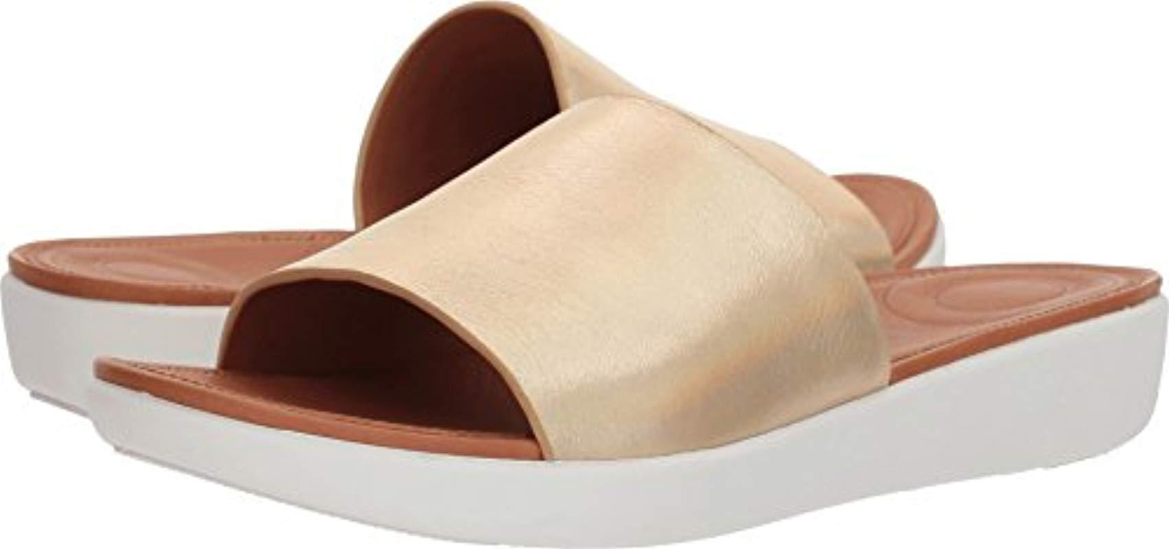 9ccdd1601fd Fitflop. Women s Sola Slides-iridescent Leather Sandal