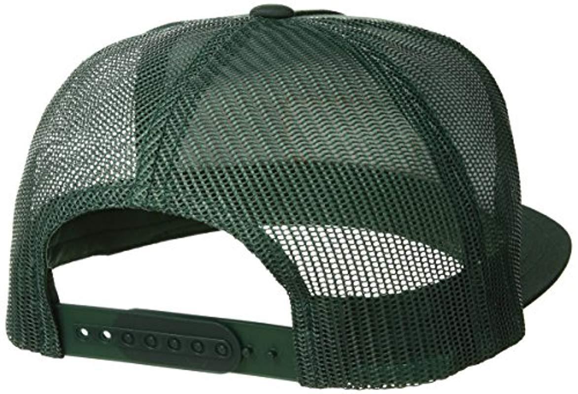 e720f66f790f1 Brixton - Green Palmer Medium Profile Adjustable Mesh Hat for Men - Lyst.  View fullscreen