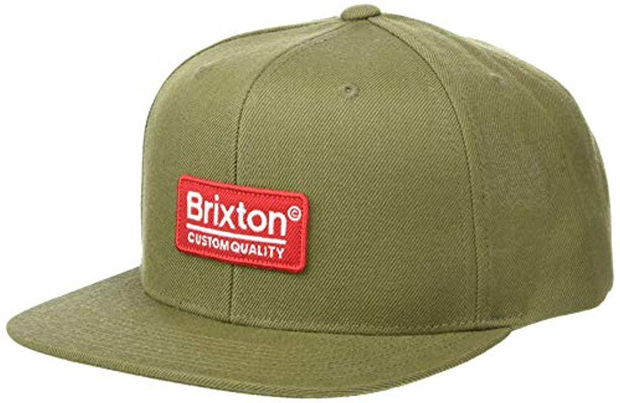 c4f0d8bd Lyst - Brixton Palmer Ii Medium Profile Adjustable Snapback Hat in ...