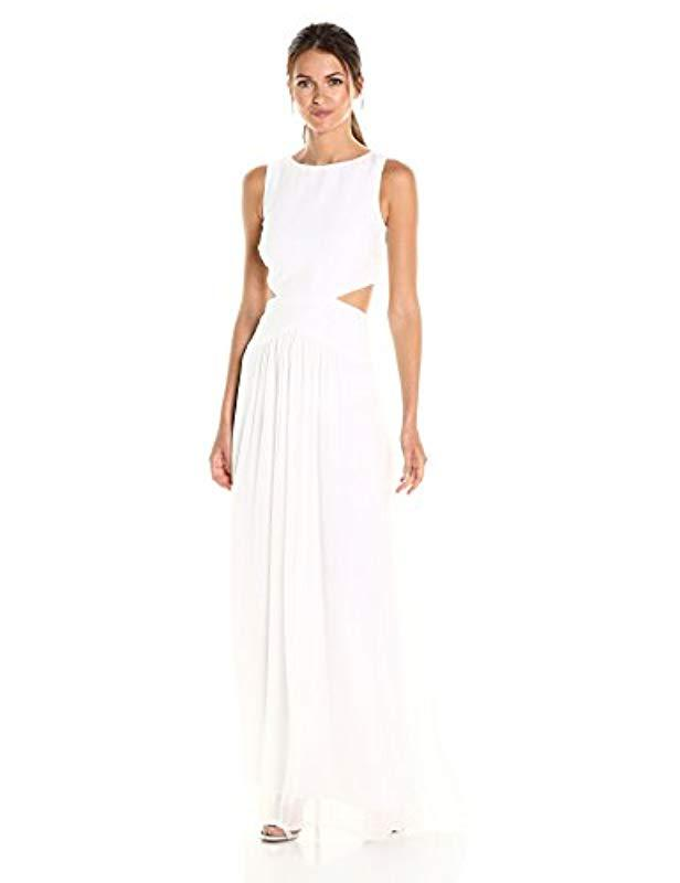Lyst Nicole Miller Queen Of The Night Gown In White Save