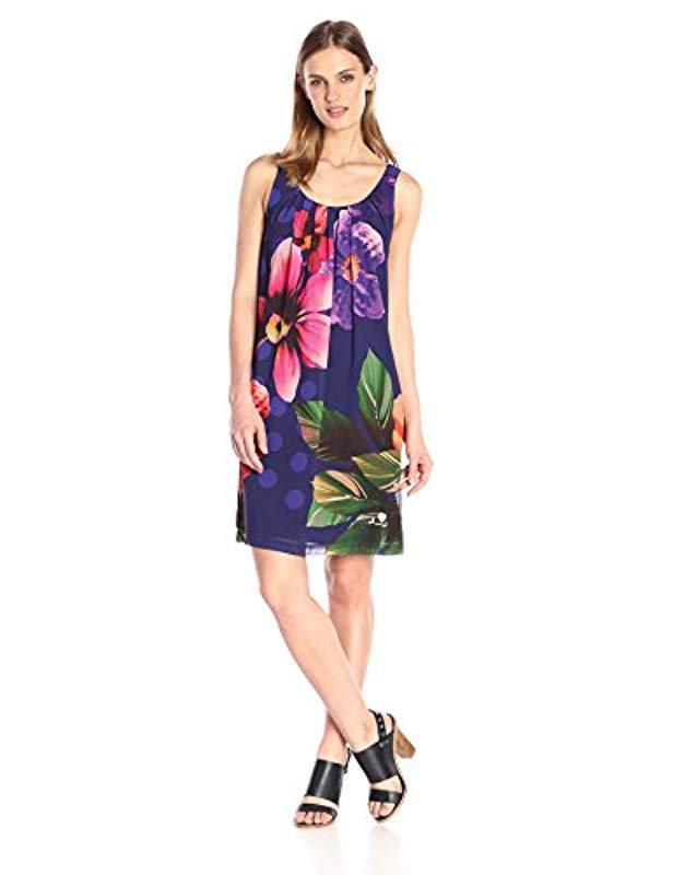 Lyst - Desigual Woven Dress in Blue