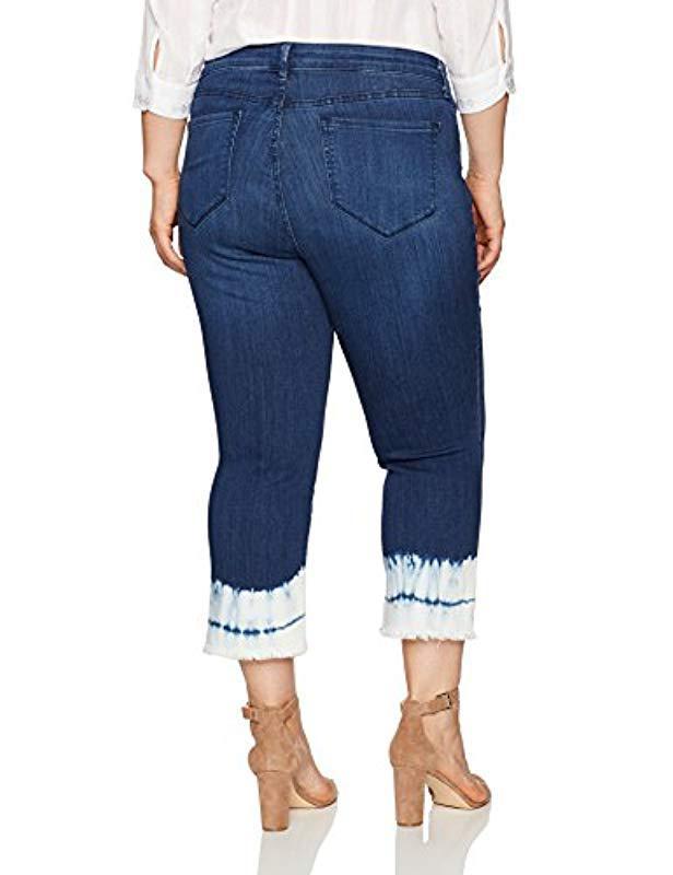 a0d2f449362 Lyst - NYDJ Plus Size Billie Ankle Bootcut Jeans In Sure Stretch Denim in  Blue - Save 30%