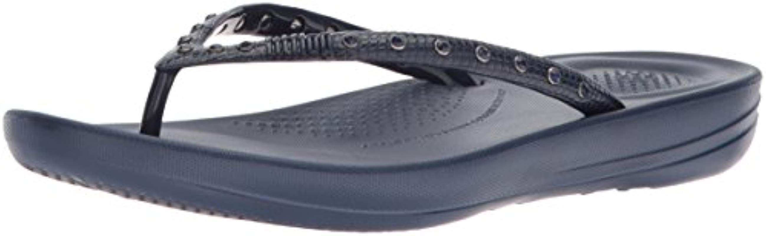 2a432c6829dc Lyst - Fitflop Iqushion Ergonomic Flip Flops-crystal Slide Sandal in ...