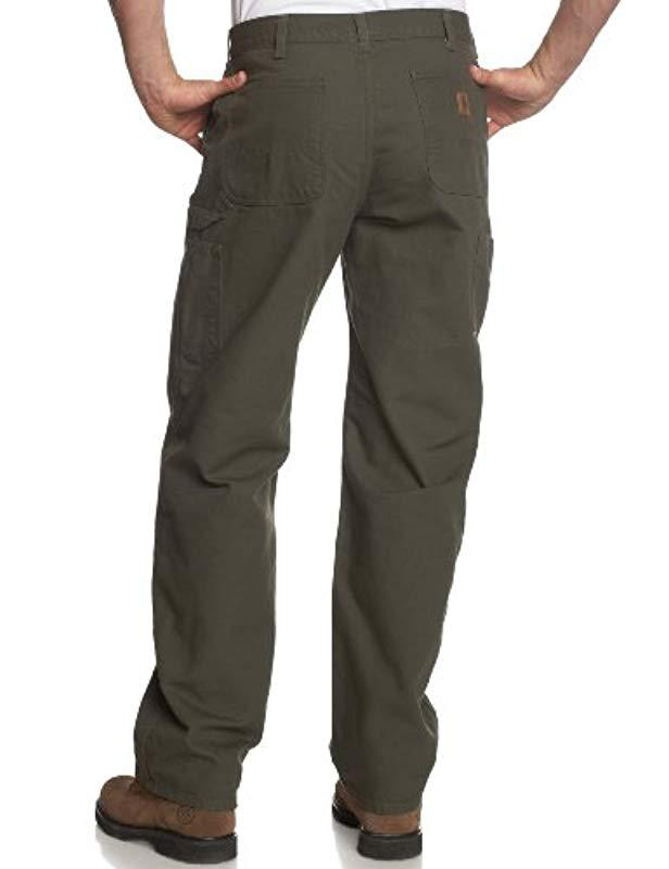 e3af15569e90 Lyst - Carhartt Washed Duck Work Dungaree Utility Pant B11 in Green for Men  - Save 11%