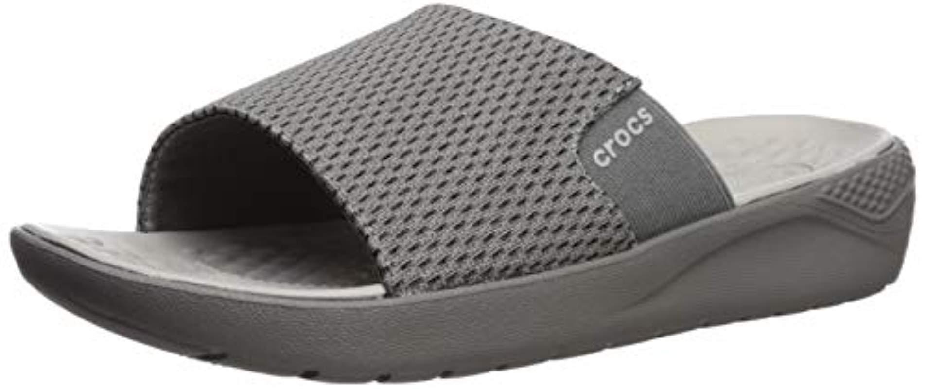 b6d8ee953be2f2 Lyst - Crocs™ Literide Mesh Slide Sandal in Gray for Men