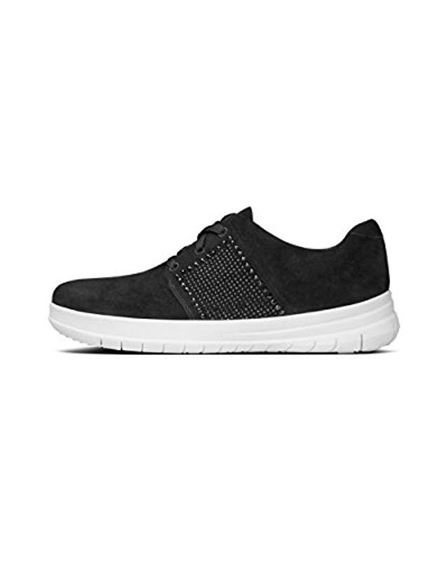 ce53ce01f078be Lyst - Fitflop Sporty-pop X Crystal Fashion Sneaker in Black - Save 18%