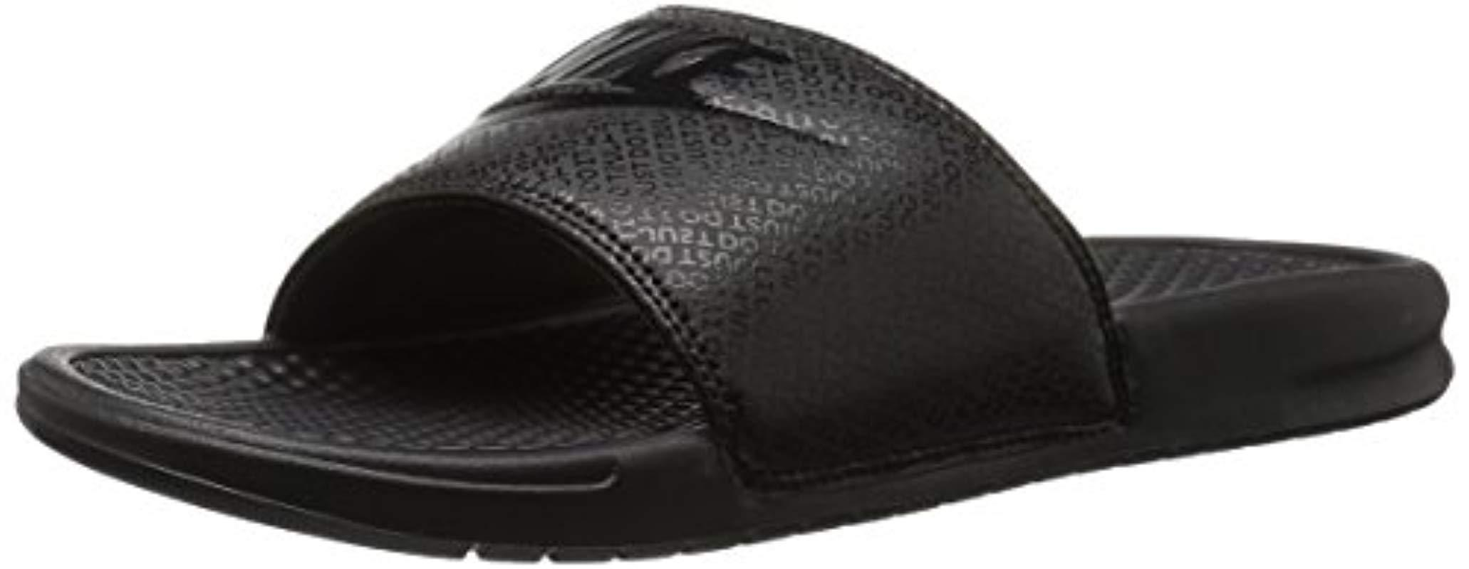17f962eb6211 Lyst - Nike Benassi Just Do It Athletic Sandal in Black for Men ...