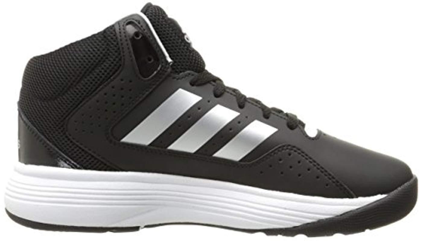 olvidar Recomendación Nube  adidas Leather Neo Cloudfoam Ilation Mid Wide Basketball Shoe in Black for  Men - Lyst