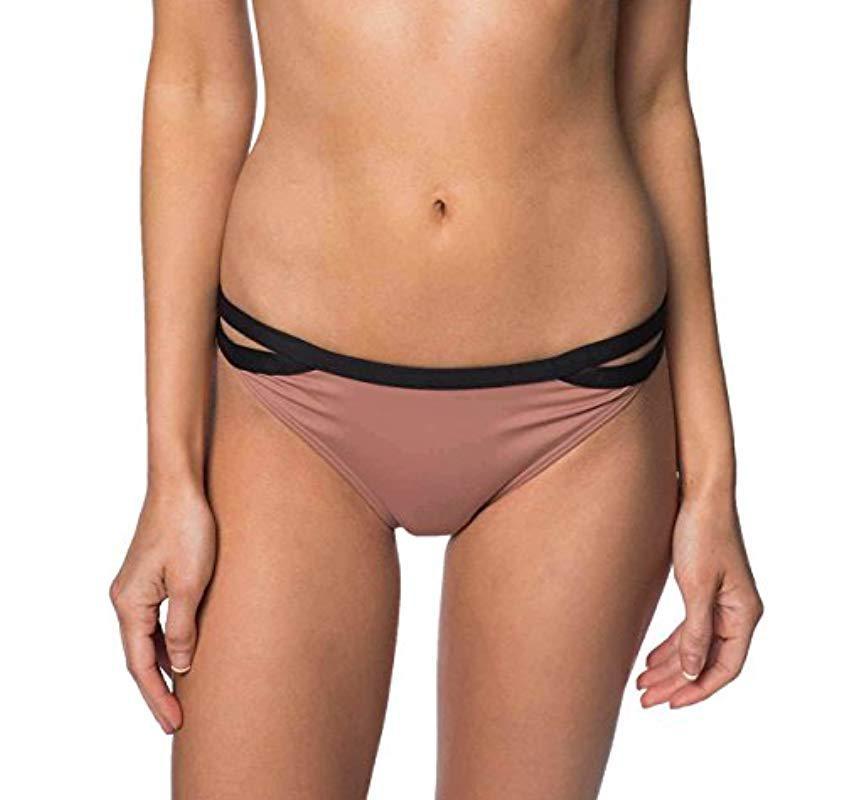 4fa2f2104e70b O'neill Sportswear. Women's Farah Criss Cross Tab Side Bikini Bottom
