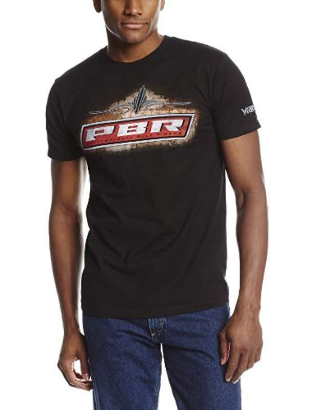 f7e773a4849af Wrangler Black Western Pbr Tee Shirt for men