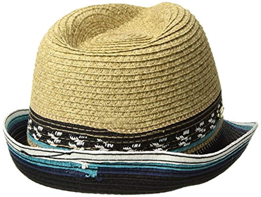 4eb308066bc7b Steve Madden - Multicolor Two Weave Banded Fedora - Lyst. View fullscreen