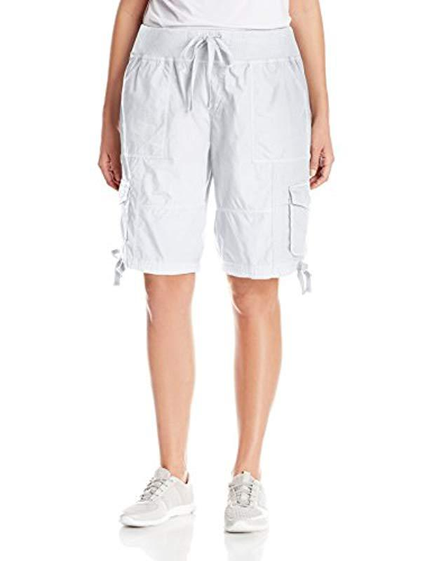 3e85e1a6354 Calvin Klein. Women s White Performance Plus-size Plus Woven Cargo Short