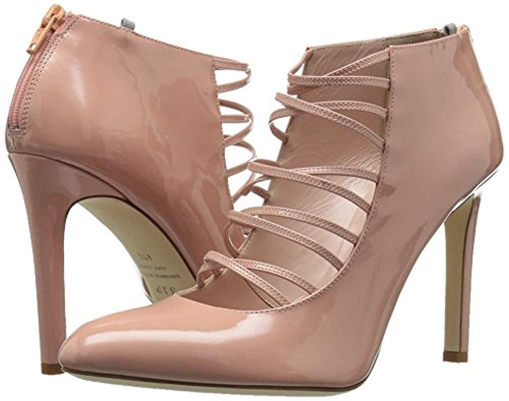37.5 B EU 7 US SJP by Sarah Jessica Parker Womens Revere Ankle Boot Bare Pink Patent