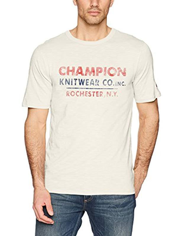 5078df184 Lyst - Champion Heritage Short Sleeve Slub Tee in White for Men ...