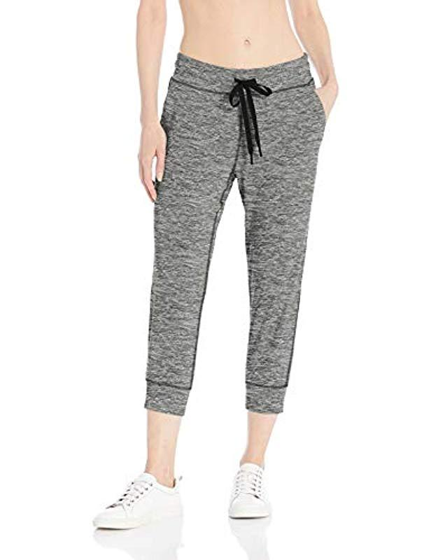 9092043495521 Lyst - Amazon Essentials Brushed Tech Stretch Crop Jogger Pant in Gray