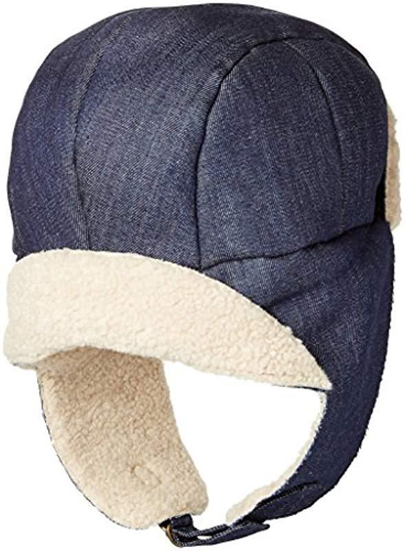 2019a6bbabb Lyst - Kangol Faux Shearling Aviator Hat in Blue for Men - Save 19%