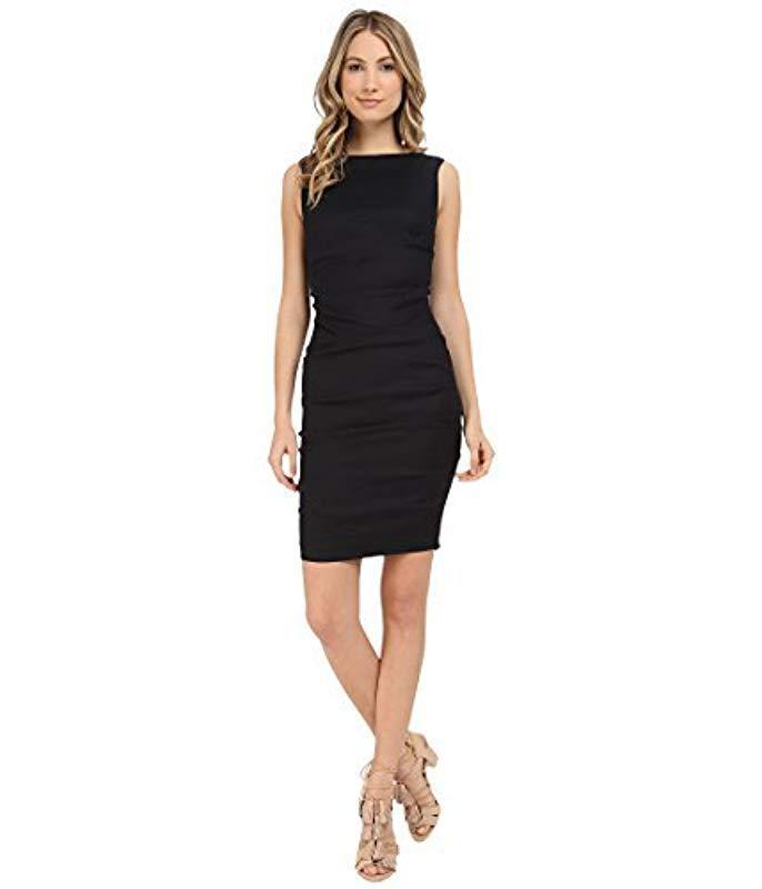 492daa126b2 Nicole Miller Lauren Stretch Linen Dress in Black - Save 48% - Lyst