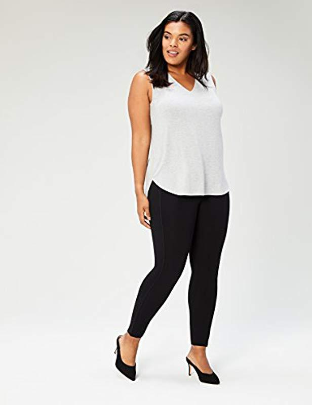f6f1c948210ff Lyst - Daily Ritual Plus Size Jersey V-neck Tank Top in Gray