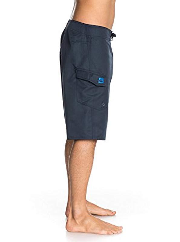 Quiksilver Mens Manic 22 Inch Length Cargo Pocket Boardshort Swim Trunk