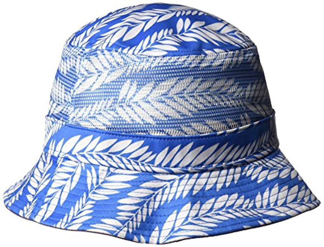 04086d8a4b6 Lyst - Original Penguin Palm Print Bucket Hat in Blue for Men - Save 3%