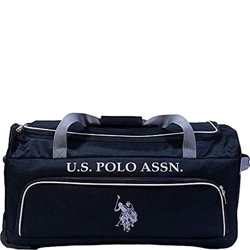 Lyst - U.S. POLO ASSN. 27in Rolling Duffel Bag Duffel Bag in Black ... d24a9e8a2c52f