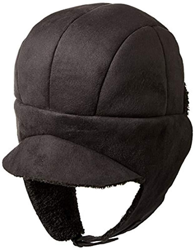 Lyst - Kangol Faux Shearling Aviator Hat in Black for Men 87a4f25ceefa