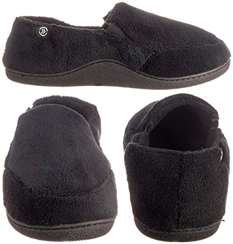 Isotoner - Black Microterry Slip On Slippers for Men - Lyst. View fullscreen cfabcf65f