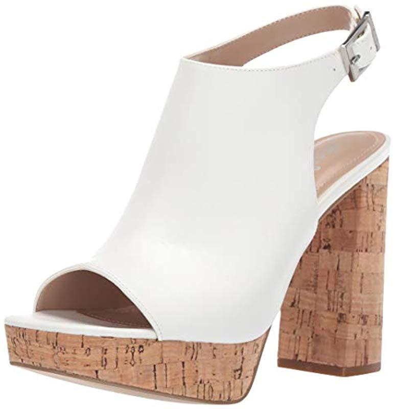89ab36842e63 Lyst - Charles David Imani Heeled Sandal in White