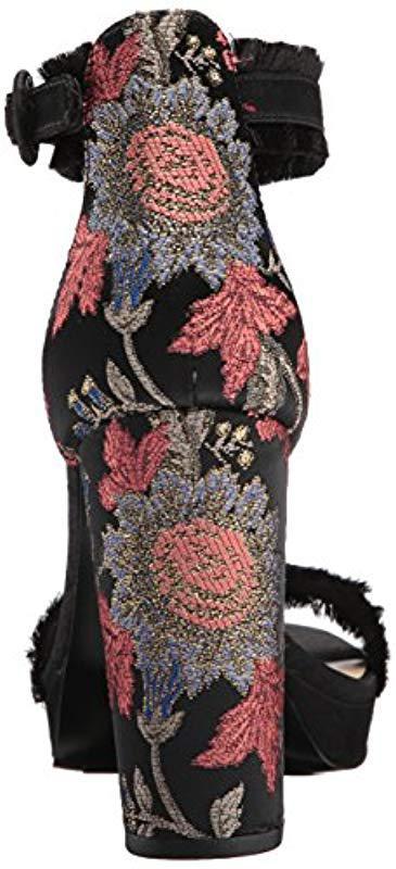 1d29d4c63d0a Nine West - Black Daranita Fabric Heeled Sandal - Lyst. View fullscreen