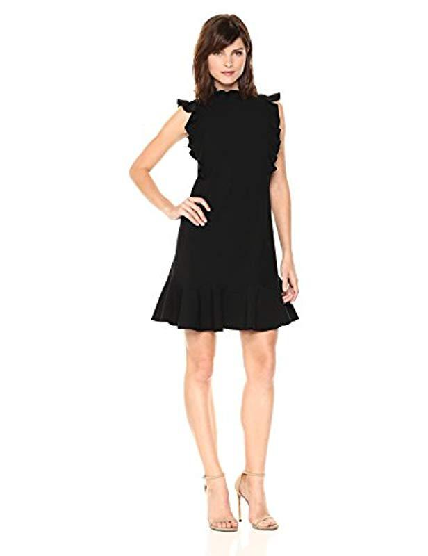 5fff4937066a33 Lyst - Rebecca Taylor Sleeveless Ruffle Suit Dress in Black - Save ...